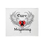 Cure Melanoma Throw Blanket