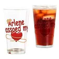 Arlene Lassoed My Heart Drinking Glass