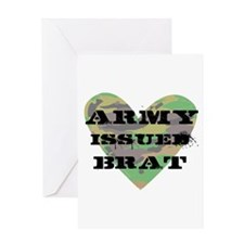Army Issued Brat Greeting Card