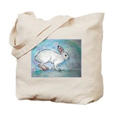 Rabbit! wildlife, winter, art!! Tote Bag