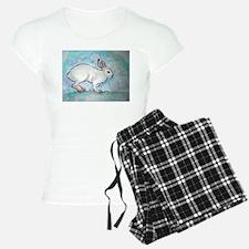 Rabbit! wildlife, winter, art!! Pajamas
