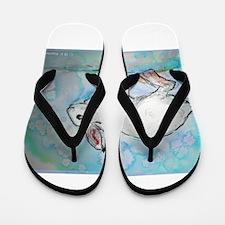 Rabbit! wildlife, winter, art!! Flip Flops