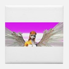 Beautiful Angel With Wings Tile Coaster