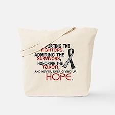 © Supporting Admiring 3.2 Melanoma Shirts Tote Bag
