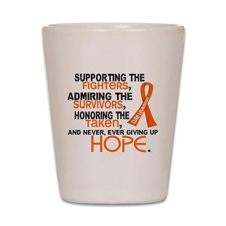 © Supporting Admiring 3.2 Leukemia Shirts Shot Gla