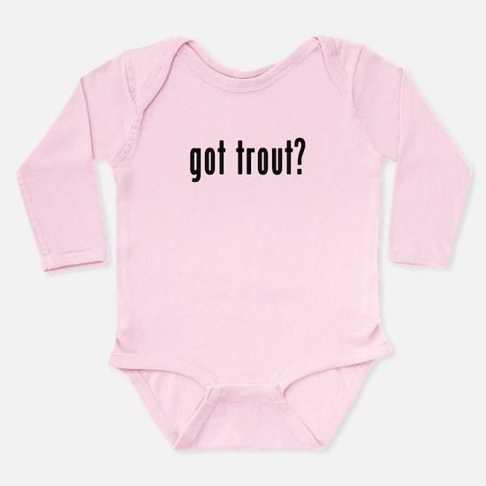 GOT TROUT Long Sleeve Infant Bodysuit