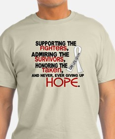 © Supporting Admiring 3.2 Lung Cancer Shirts T-Shirt