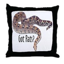 Snake Boa2 Got Rats Throw Pillow