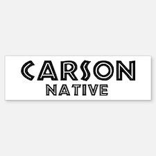 Carson Native Bumper Bumper Bumper Sticker