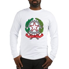 Italy Coat Of Arms Long Sleeve T-Shirt