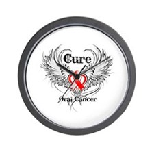 Cure Oral Cancer Wall Clock