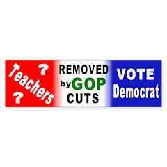 GOP Removes Teachers Bumper Bumper Sticker
