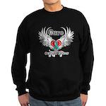 Cure Ovarian Cancer Sweatshirt (dark)