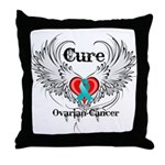 Cure Ovarian Cancer Throw Pillow