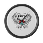 Cure Ovarian Cancer Large Wall Clock