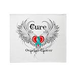 Cure Ovarian Cancer Throw Blanket