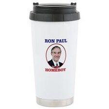 Ron Paul Is My Homeboy Travel Mug