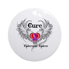 Cure Pancreatic Cancer Ornament (Round)