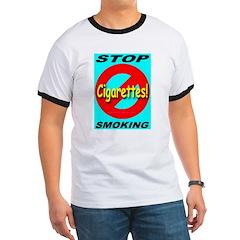 No Cigarettes Stop Smoking Ringer T