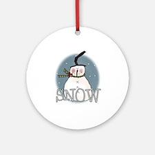 Primsical Snowman Ornament (Round)