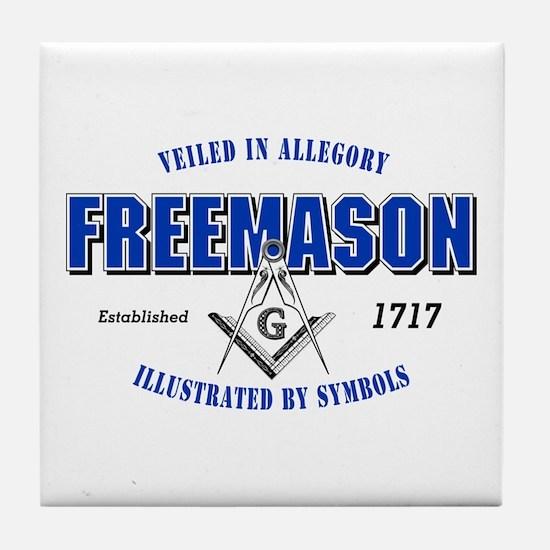 Masonic Collegiate Tile Coaster