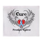 Cure Prostate Cancer Throw Blanket