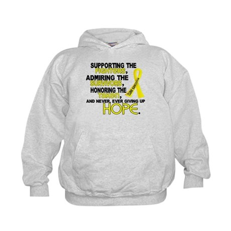 © Supporting Admiring 3.2 Sarcoma Shirts Kids Hood