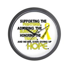 © Supporting Admiring 3.2 Sarcoma Shirts Wall Cloc