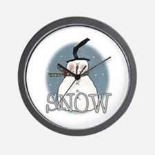 Primsical Snowman Wall Clock