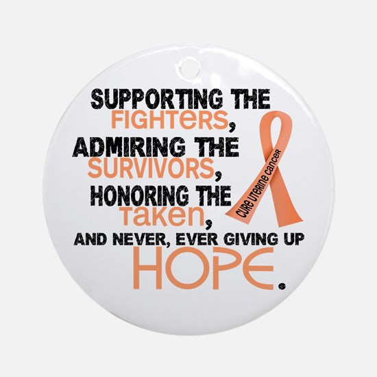 © Supporting Admiring 3.2 Uterine Cancer Shirts Or