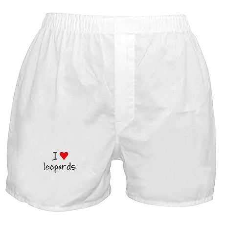 I LOVE Leopards Boxer Shorts