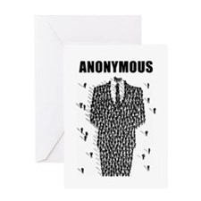 Anonymous Crowd Greeting Card