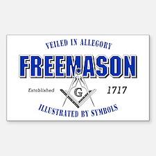 Masonic Collegiate Rectangle Decal