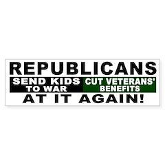 Republicans Cut Veterans Bumper Bumper Sticker