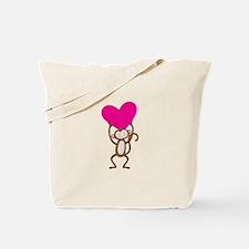 Monkey Heart Tote Bag