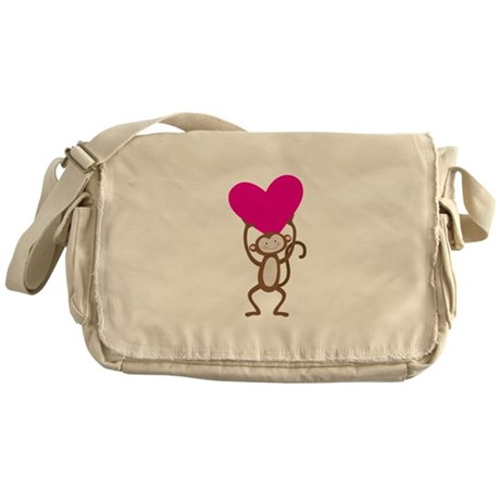 Monkey Heart Messenger Bag