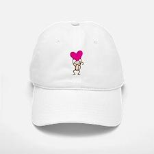 Monkey Heart Baseball Baseball Cap