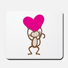 Monkey Heart Mousepad