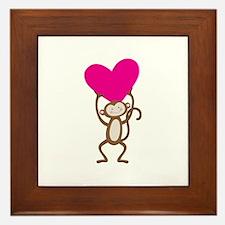 Monkey Heart Framed Tile