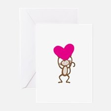 Monkey Heart Greeting Cards (Pk of 10)