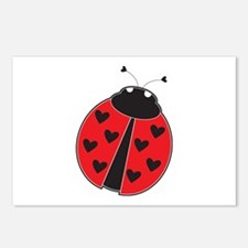 Lady Bug Postcards (Package of 8)
