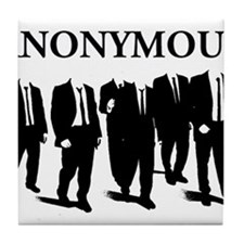 Anonymous Suits 3 Tile Coaster
