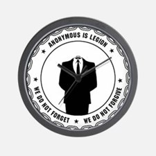 Anonymous Seal 1 Wall Clock