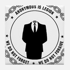 Anonymous Seal 1 Tile Coaster