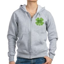 [Your text] St. Patrick's Day Zip Hoodie