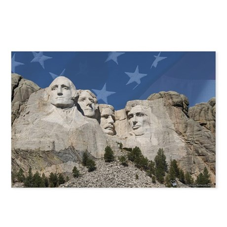 Patriotic Mt. Rushmore Postcards (Package of 8)