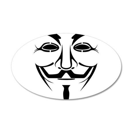 Anonymous Mask 38.5 x 24.5 Oval Wall Peel