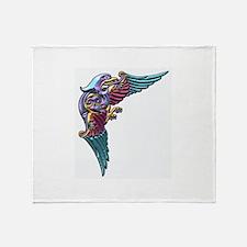 Funny Bird tattoo Throw Blanket
