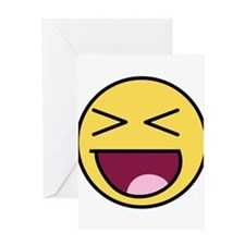 Awesome Face Laugh Greeting Card