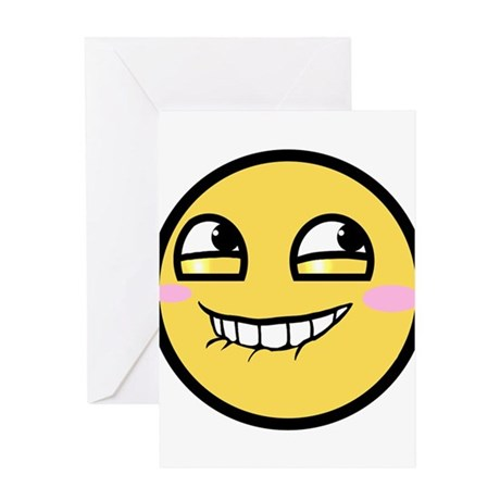 Awesome Face Hurr Durr Greeting Card